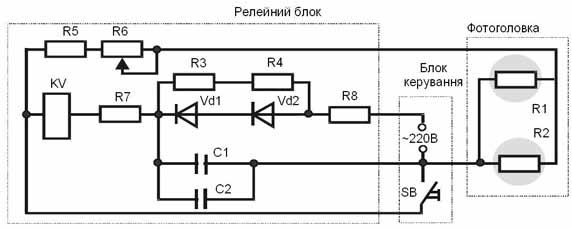 схема приладу ПКП-Ф